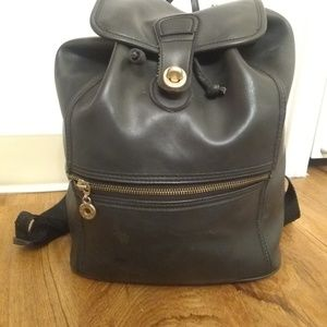 Coach Bags - Coach Black leather backpack